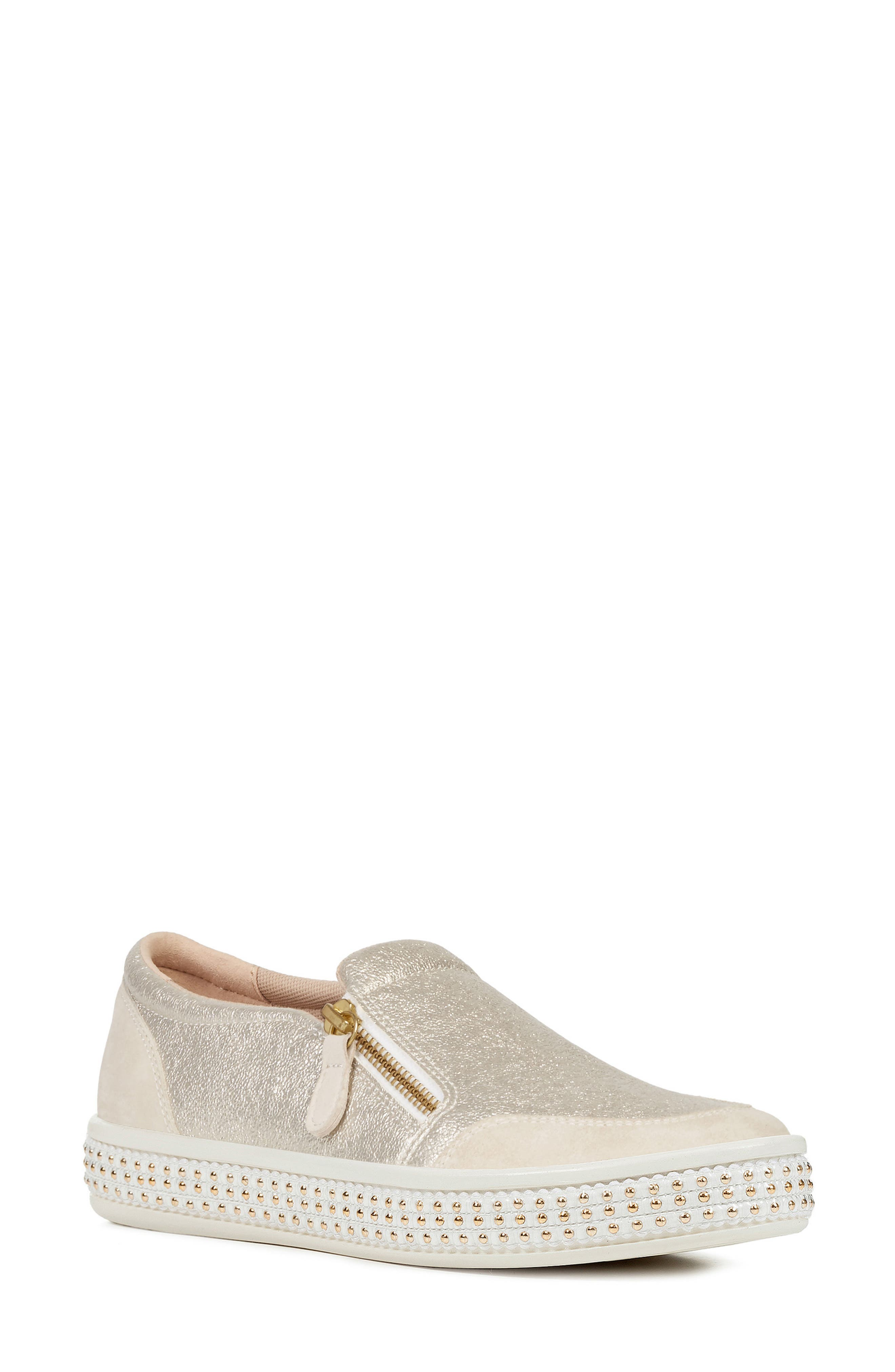 Geox Geox W NEW CLUB 13 (Light Gold) Women's Slip on Shoes from 6pm | Shop
