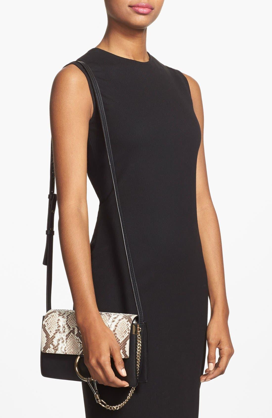 Alternate Image 2  - Chloé 'Small Faye' Genuine Python & Leather Shoulder Bag