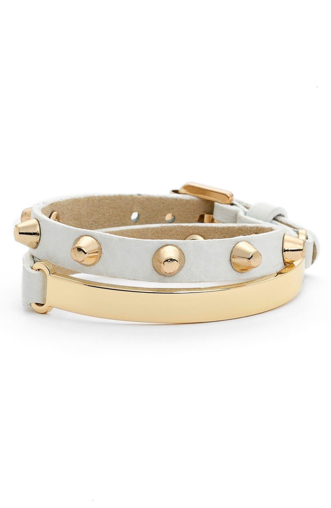 Main Image - Jules Smith Studded Wrap Bracelet