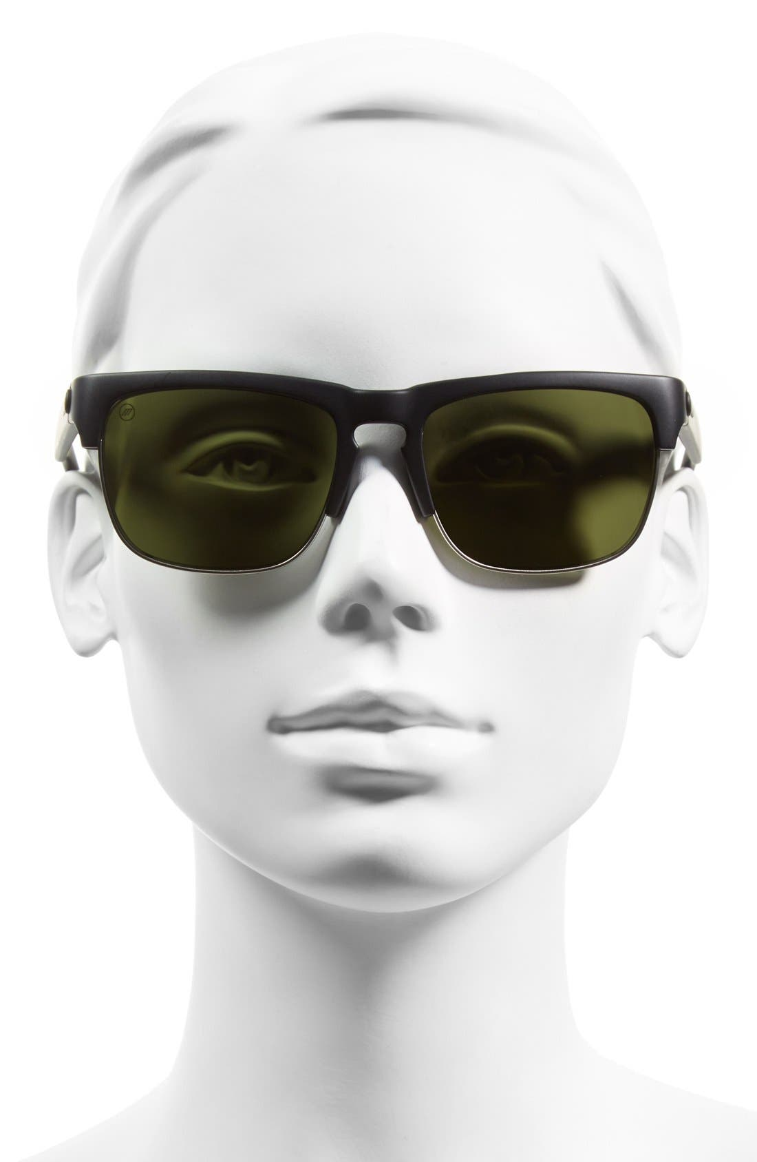 'Knoxville Union' 55mm Sunglasses,                             Alternate thumbnail 2, color,                             Matte Black/ Grey