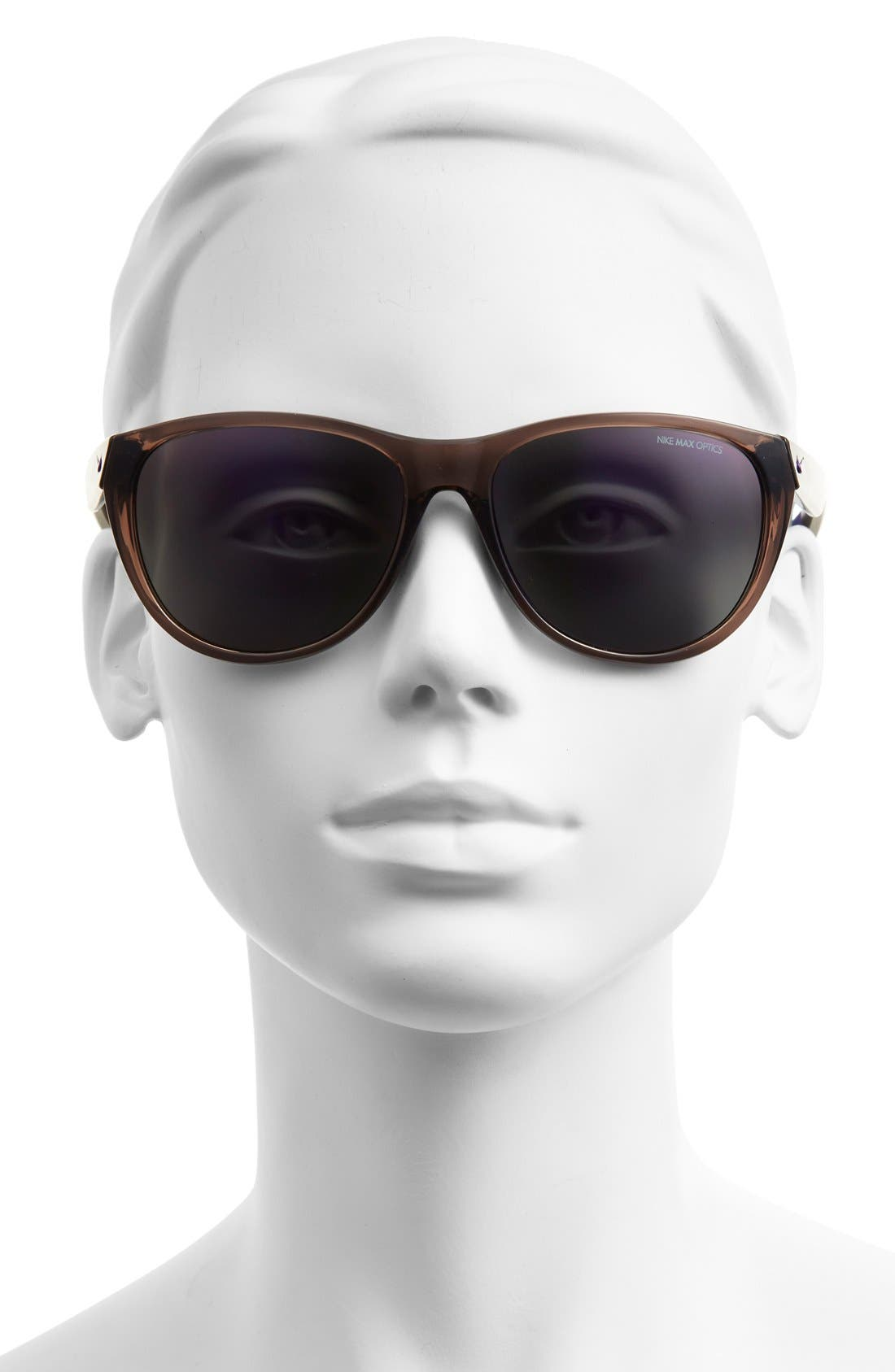 'Compel' 58mm Sunglasses,                             Alternate thumbnail 2, color,                             Crystal Violet/ Grape Tortoise