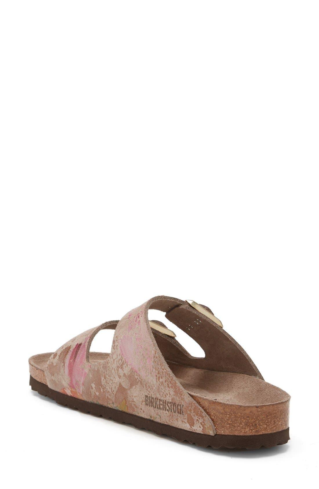 Alternate Image 2  - Birkenstock 'Arizona' Soft Footbed Printed Leather Sandal (Women)