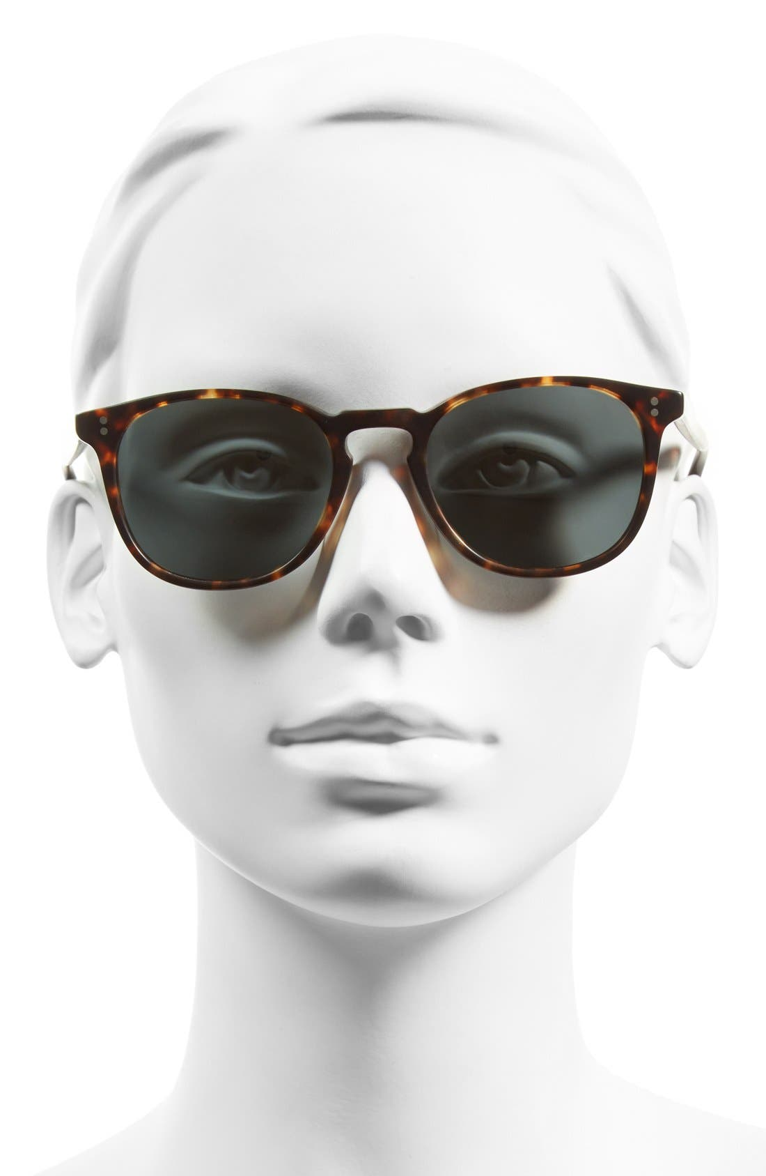 'Finley' 51mm Polarized Sunglasses,                             Alternate thumbnail 2, color,                             Brown/ Tortoise/ Gold Polar