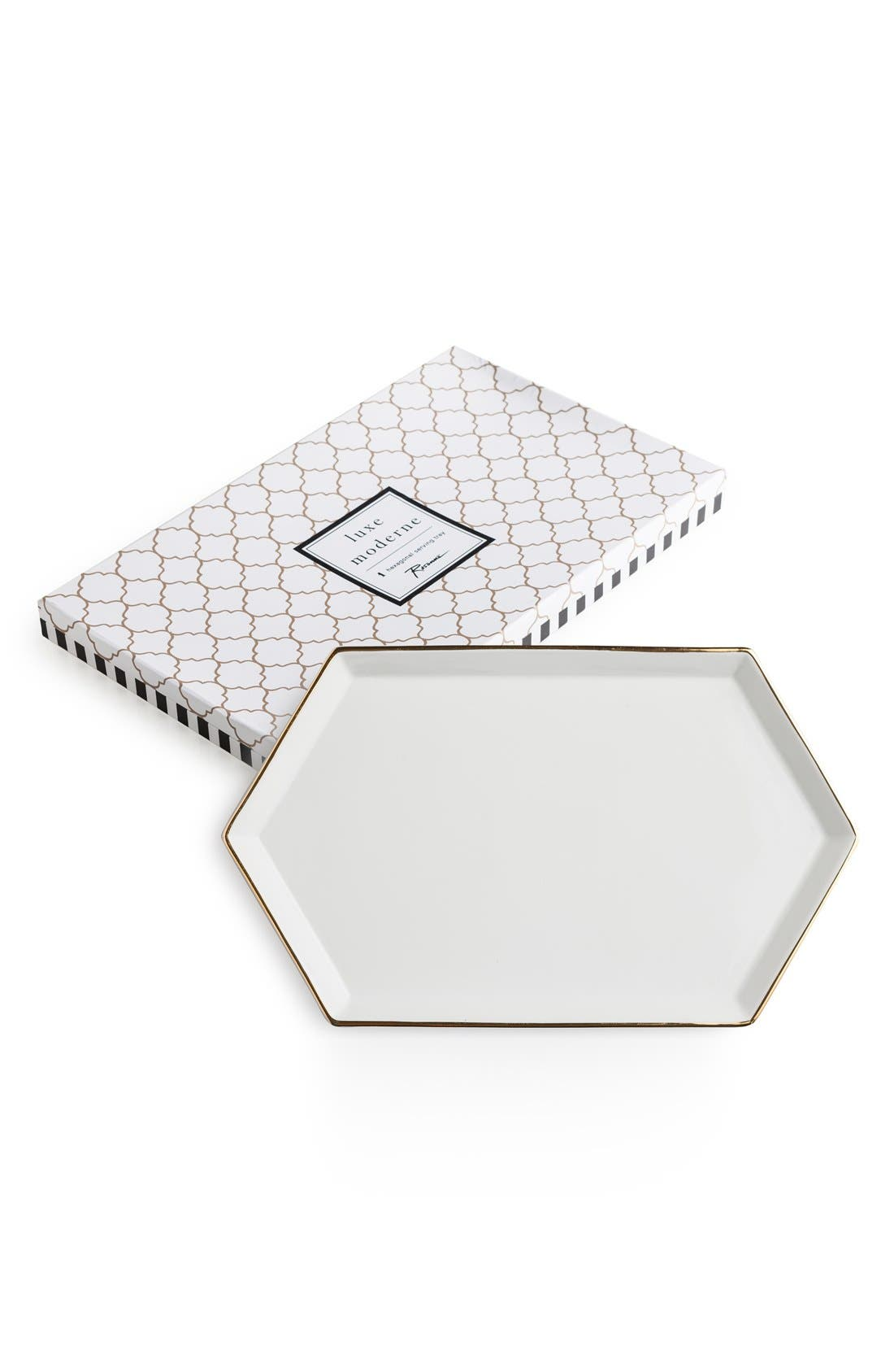 'Luxe Moderne' Hexagonal Tray by ROSANNA