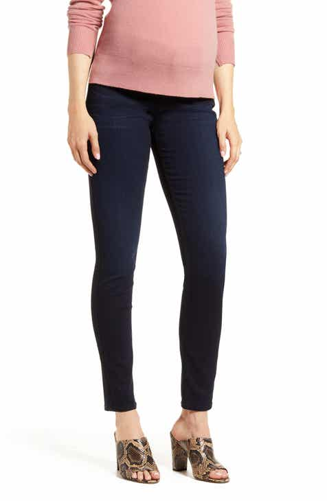 7 For All Mankind® b(air) High Waist Ankle Skinny Maternity Jeans (Bair Black River Thames)