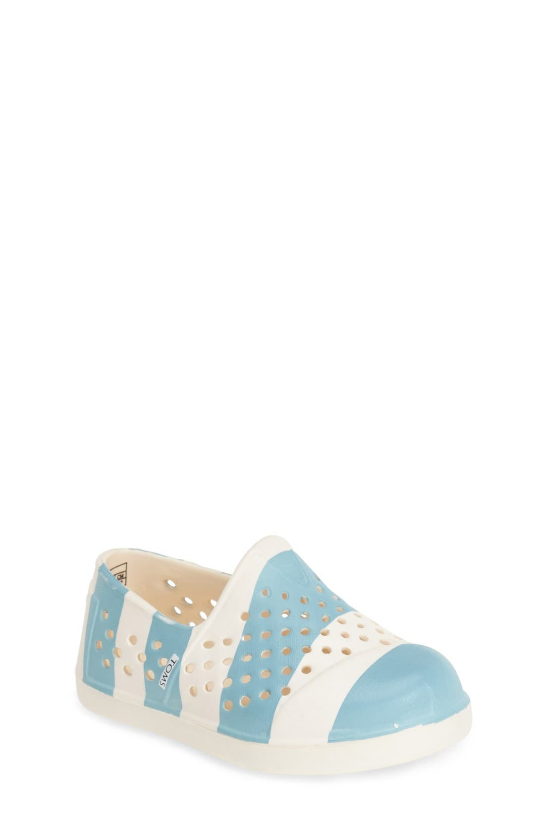 Alternate Image 1 Selected - TOMS 'Romper - Tiny' Perforated Water Friendly Slip-On (Walker & Toddler)