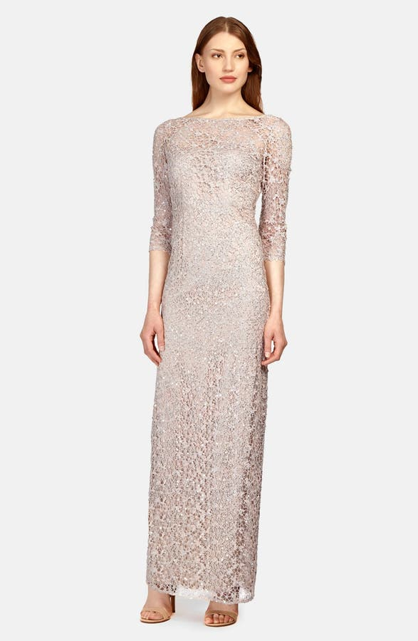 Kay Unger Sequin Lace Colum Gown | Nordstrom