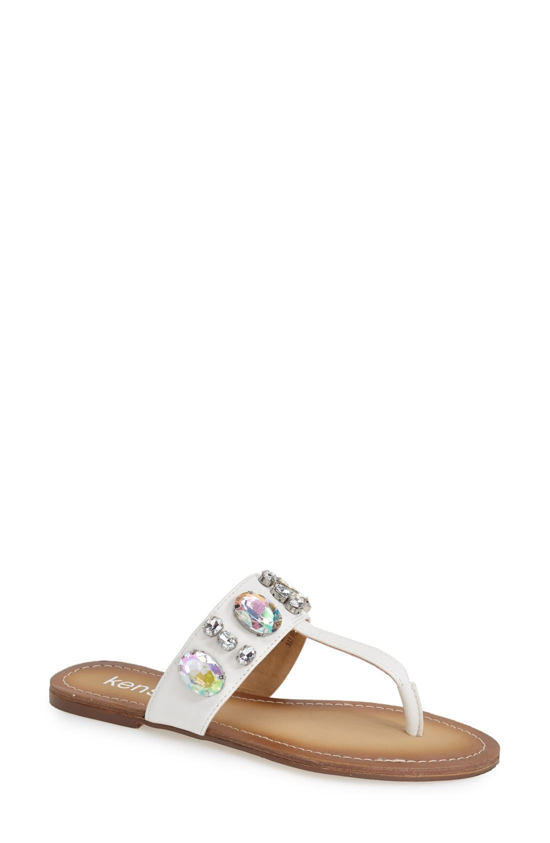 Alternate Image 1 Selected - kensie 'Tatianly' Thong Sandal (Women)