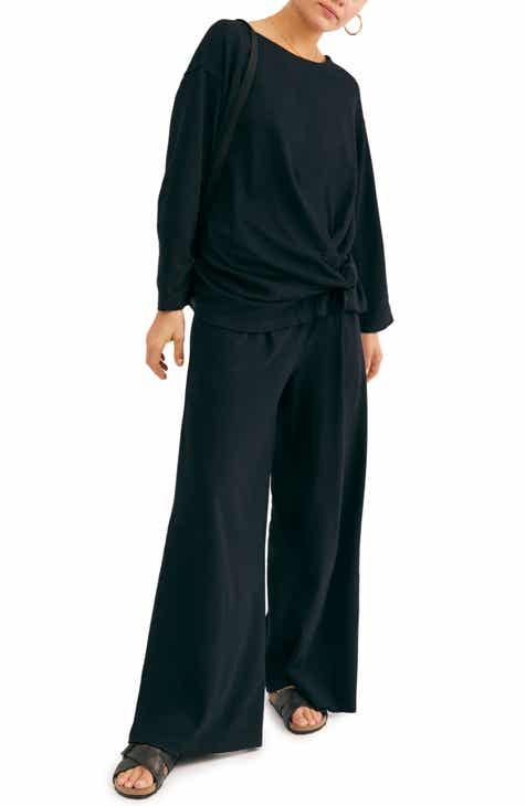 Free People Oversize Top & Wide Leg Pants