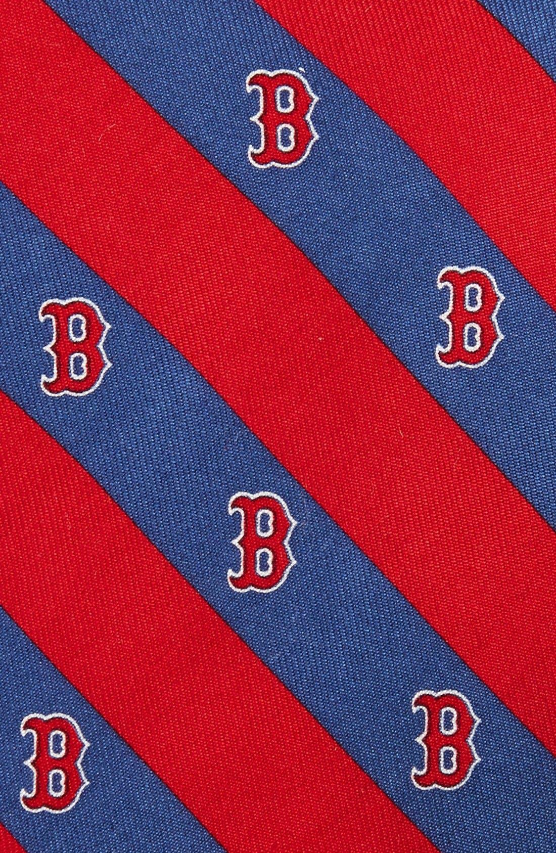 Boston Red Sox - MLB Print Silk Tie,                             Alternate thumbnail 2, color,                             Navy
