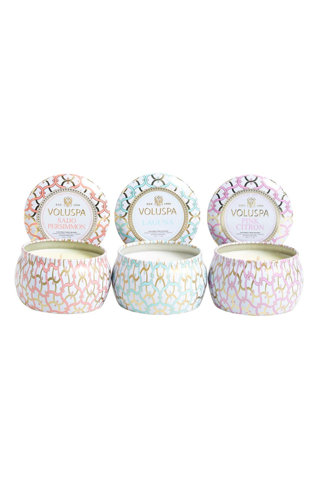 Alternate Image 2  - Voluspa 'Maison Blanc' Mini Tin Candle Trio (Nordstrom Exclusive) ($24 Value)