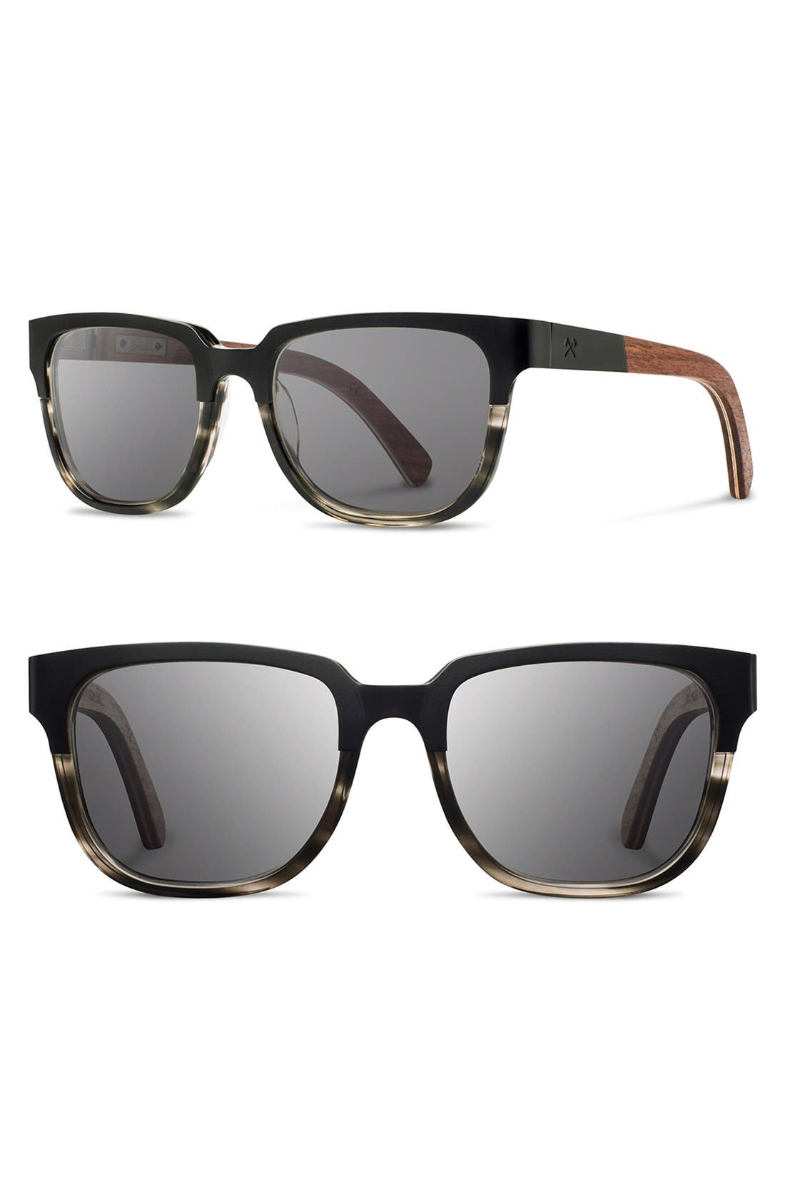 Shwood 'Prescott' 52mm Titanium & Wood Sunglasses