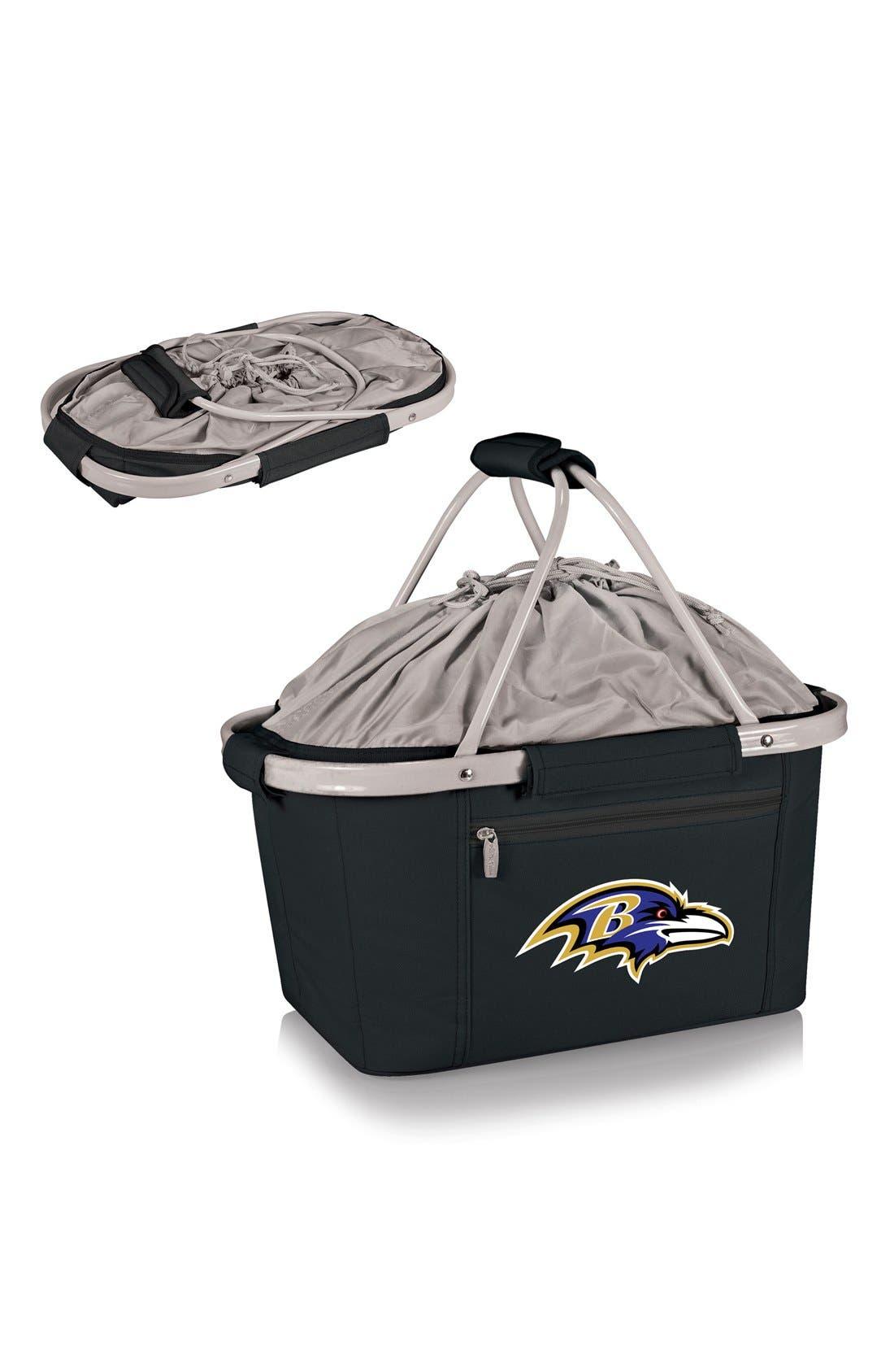 Metro NFL Collapsible Insulated Basket,                             Alternate thumbnail 2, color,                             Baltimore Ravens/ Black