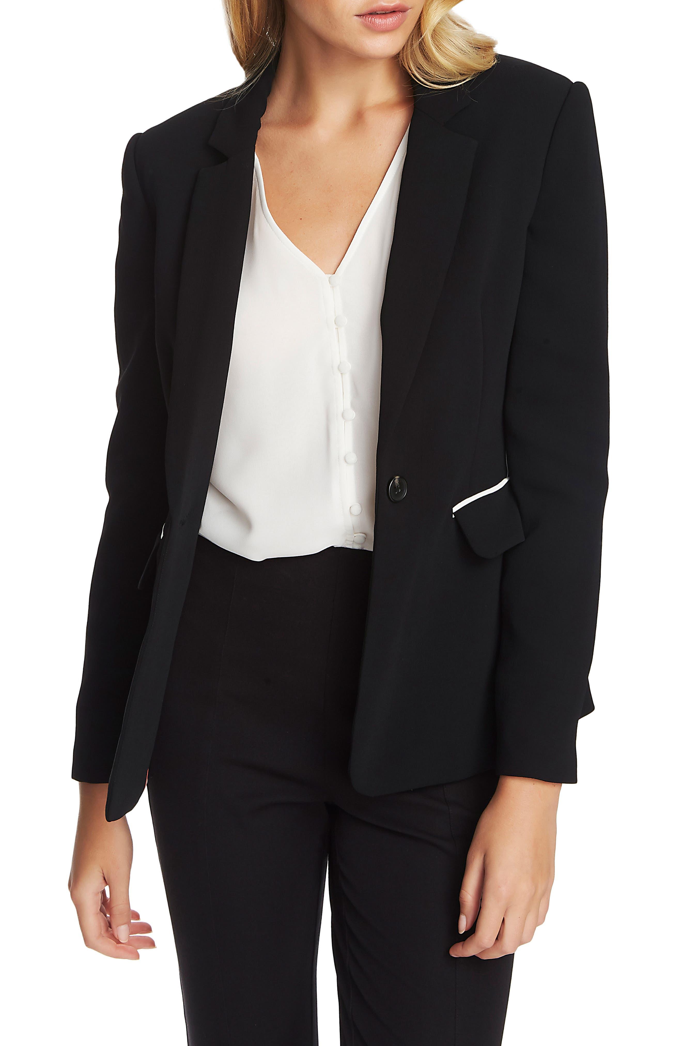 6 1.State Womens Blazer Black