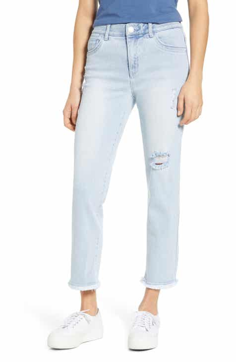 Wit & Wisdom Ab-Solution Fray Hem Ankle Skinny Jeans (Nordstrom Exclusive)