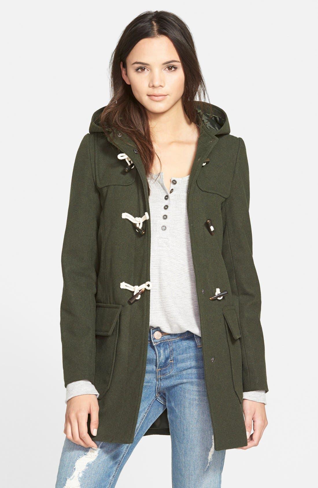 Toggle Jacket,                         Main,                         color, Hunter Green
