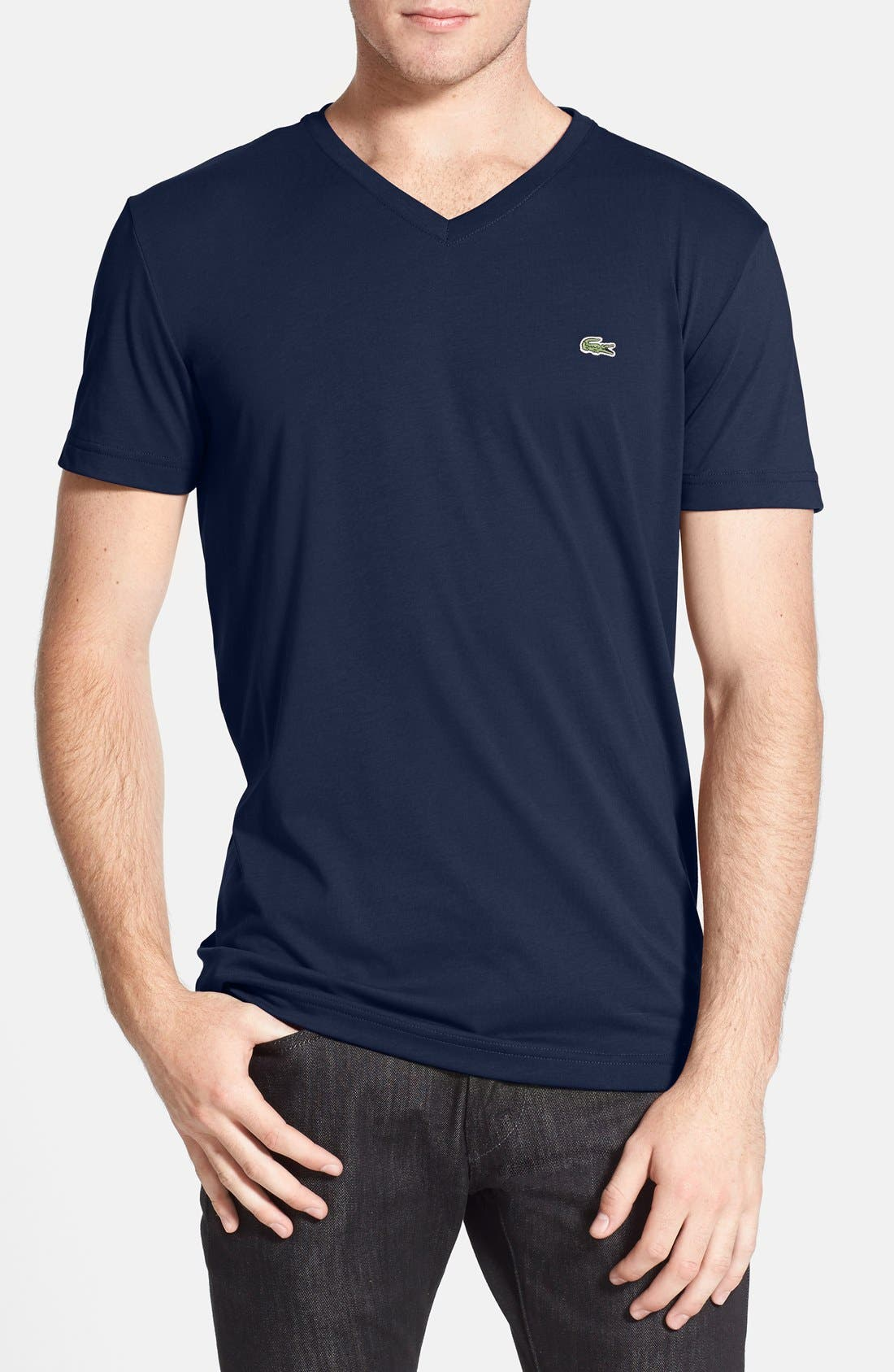 Alternate Image 1 Selected - Lacoste Pima Cotton Jersey V-Neck T-Shirt