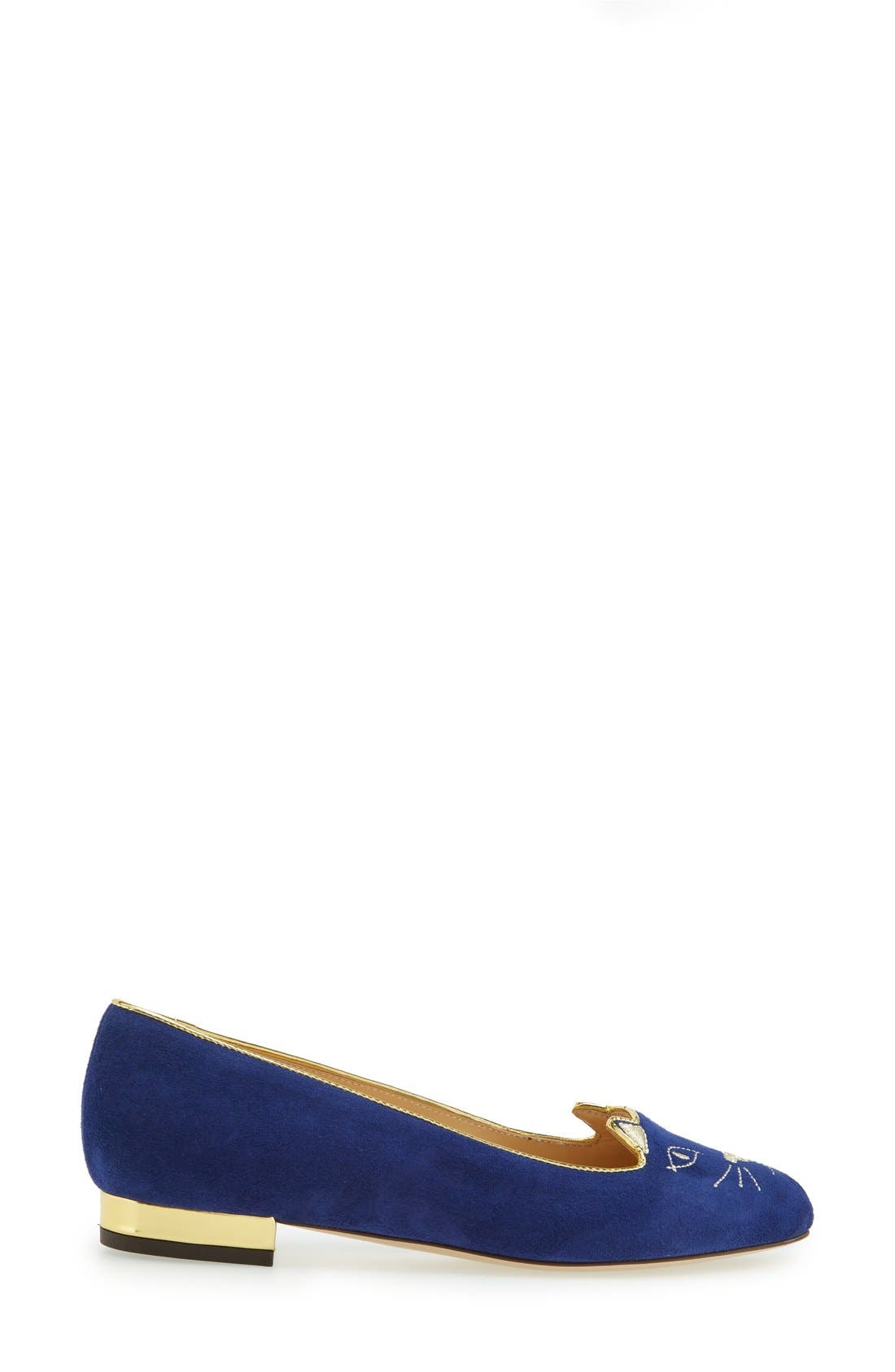 Alternate Image 3  - Charlotte Olympia 'Kitty' Suede Flat (Nordstrom Exclusive)