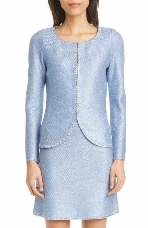 St. John Evening Sequin Knit Jacket