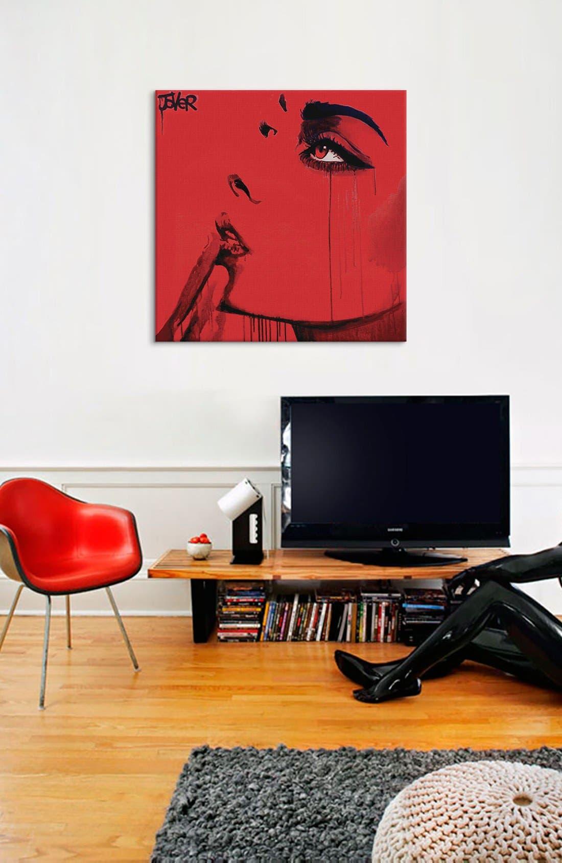 'Never Know' Giclée Print Canvas Art,                             Alternate thumbnail 2, color,                             Red
