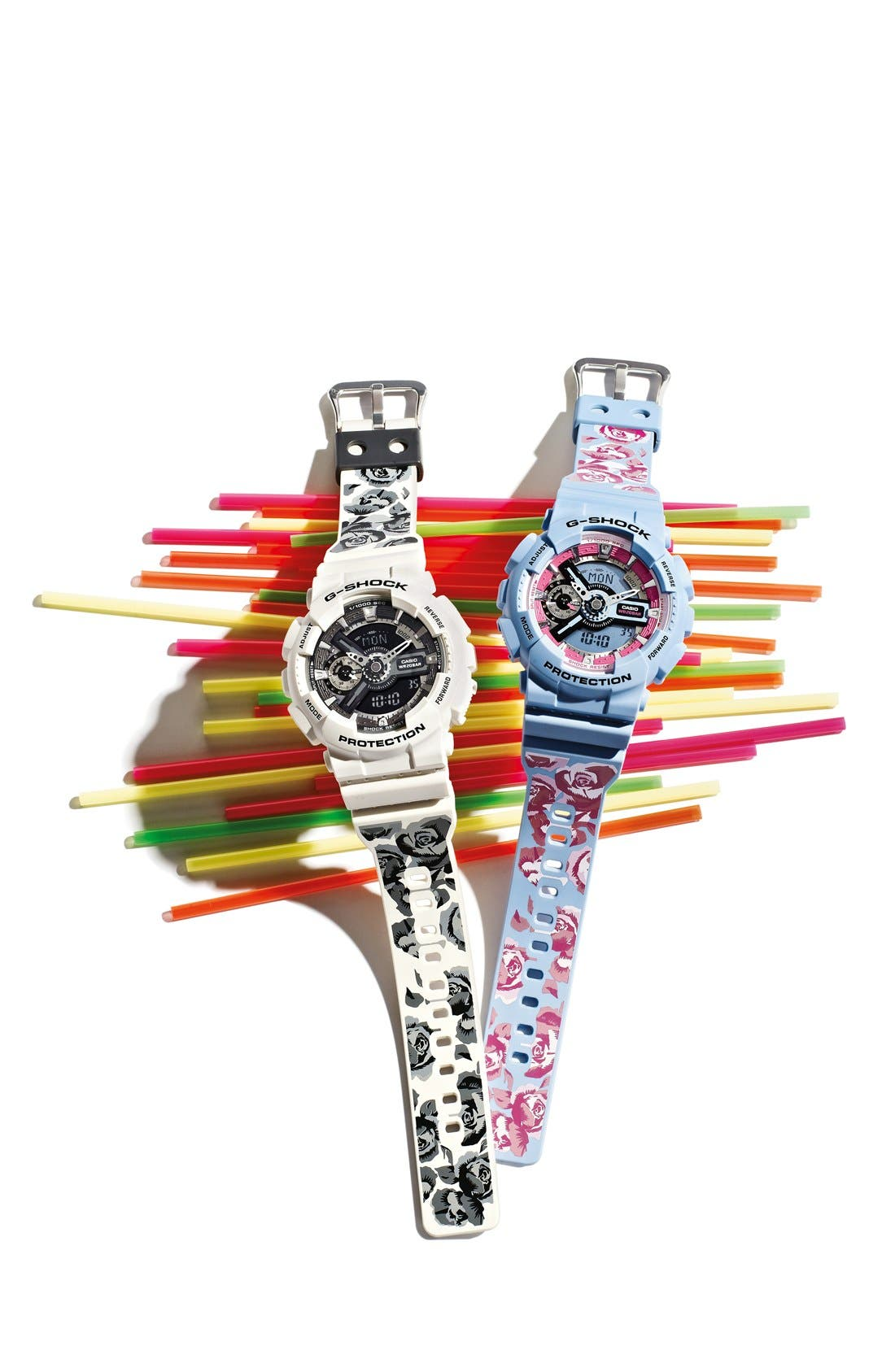 Alternate Image 3  - G-Shock 'S-Series' Floral Band Resin Ana-Digi Watch, 49mm