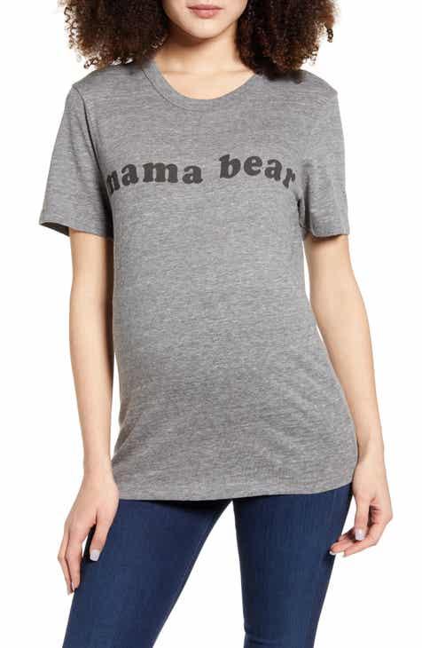 Bun Maternity Mama Bear Maternity Graphic Tee
