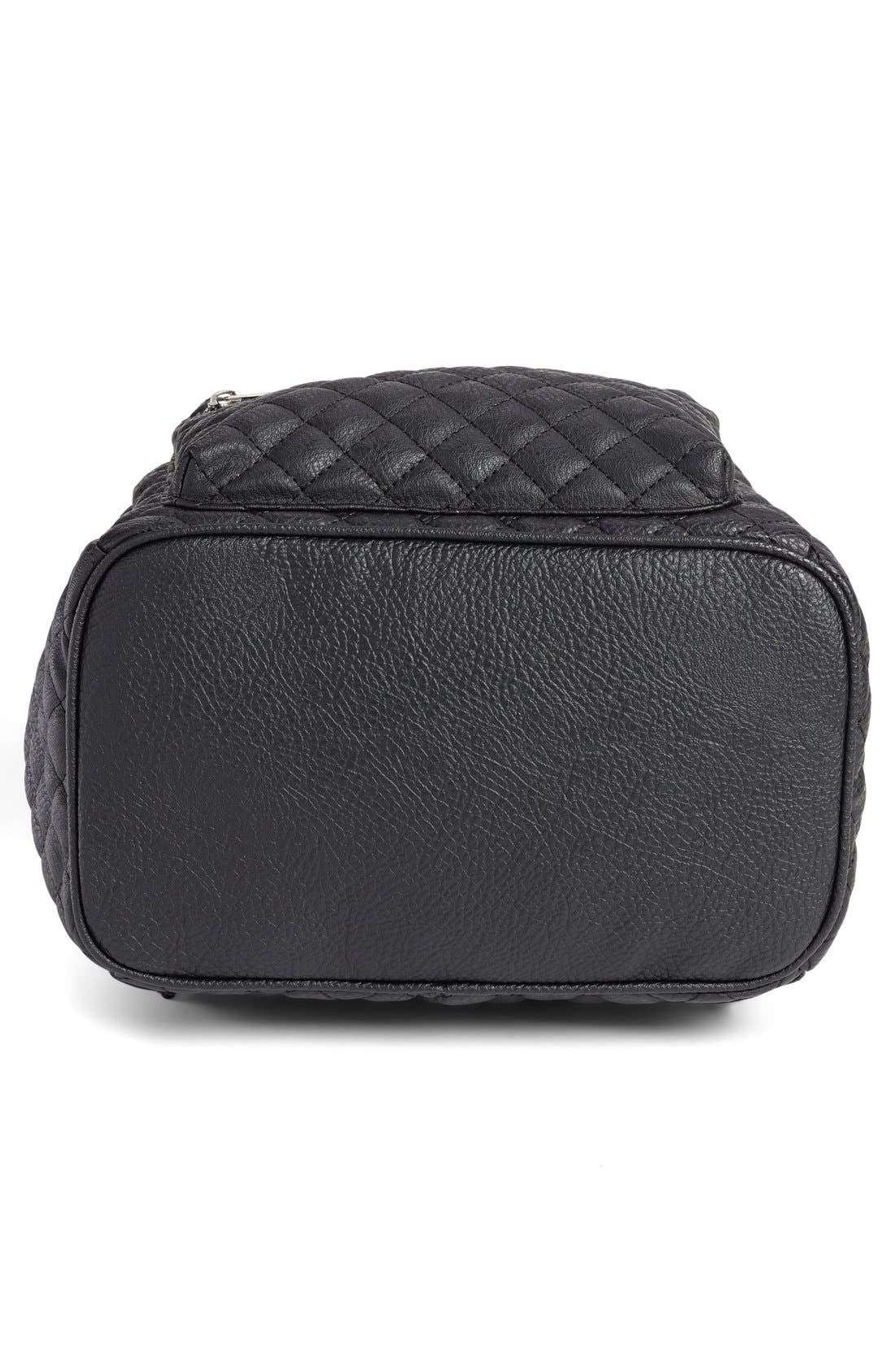 Alternate Image 5  - Amici Accessories Faux Leather Quilted Backpack