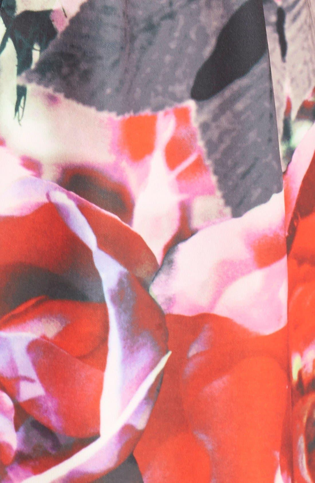 Alternate Image 4  - Vince Camuto Floral Print Scuba Fit & Flare Dress (Regular & Petite)
