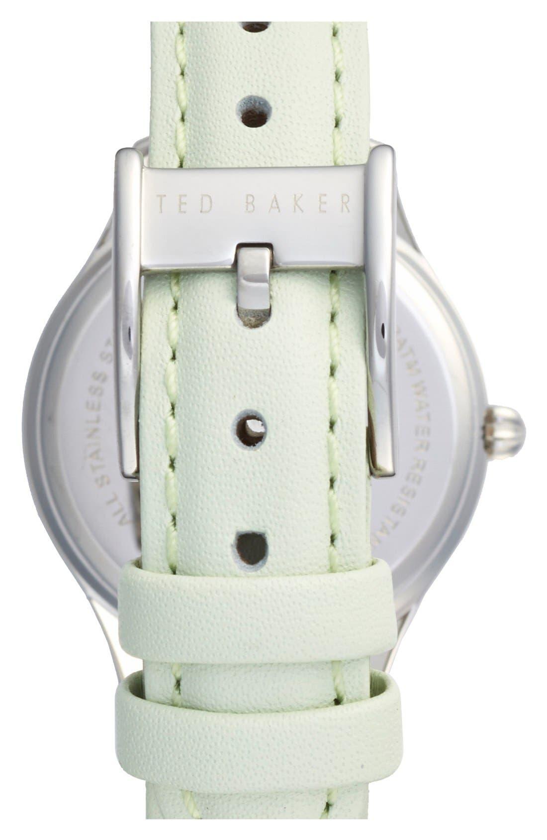 Alternate Image 2  - Ted Baker London 'Dress Sport' Leather Strap Watch, 32mm
