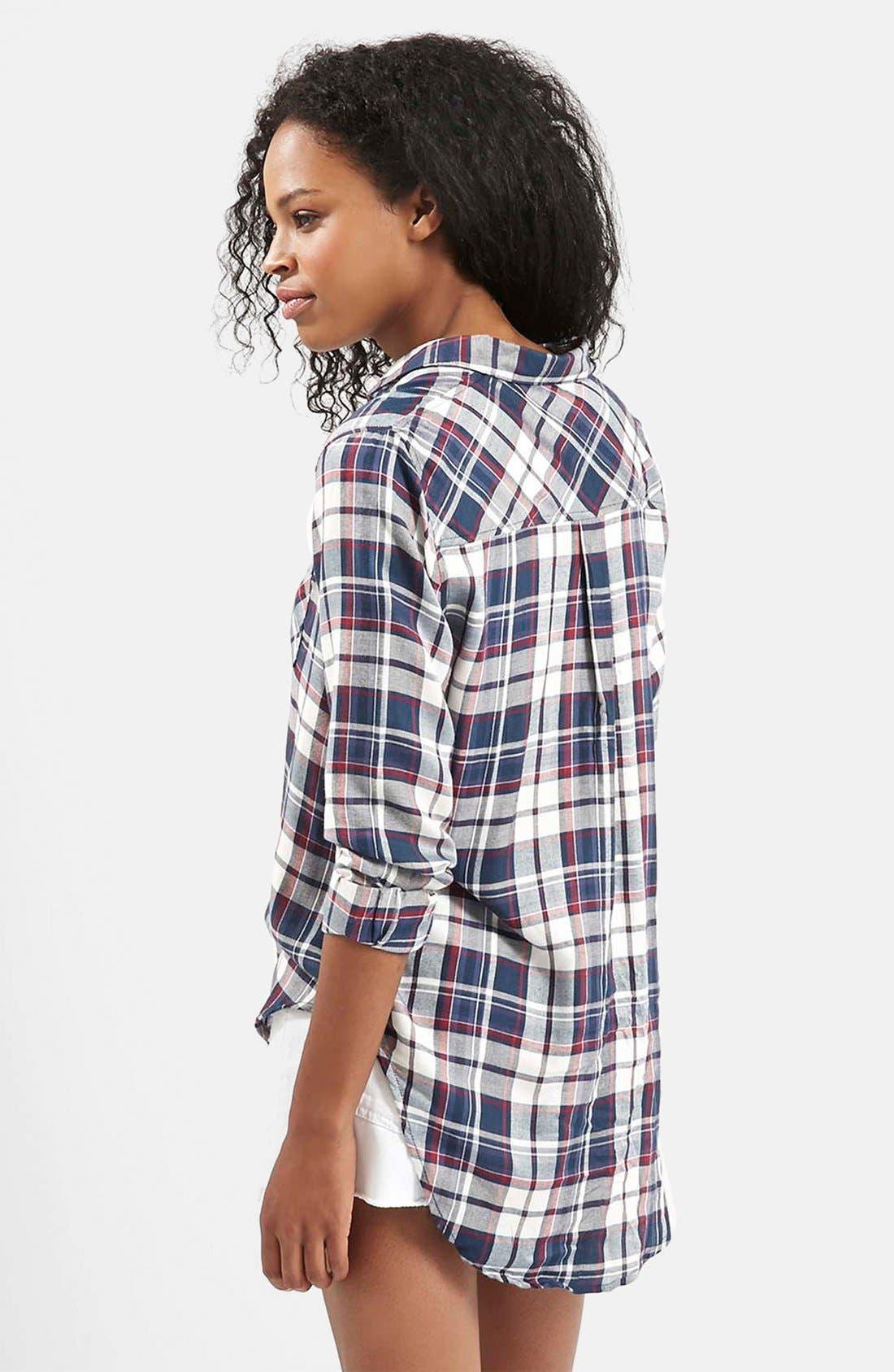 Alternate Image 2  - Topshop 'Ali' Check Button Front Shirt