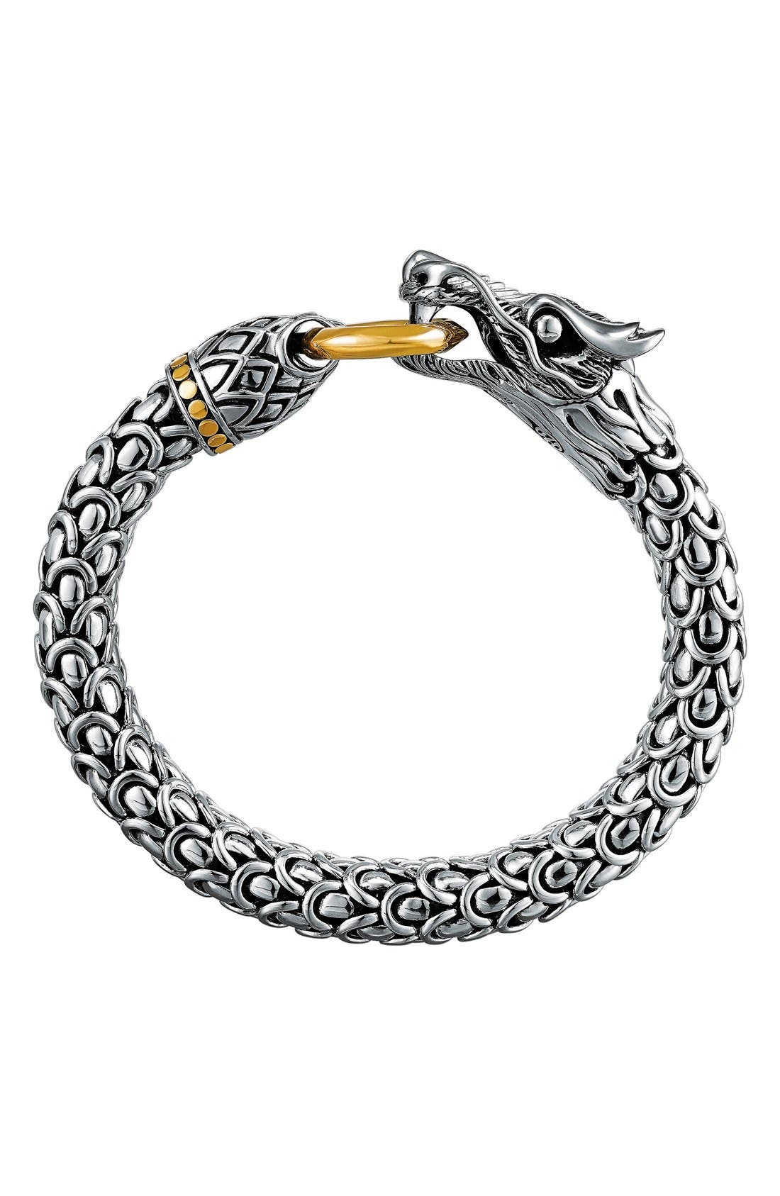 'Naga' Dragon Bracelet,                         Main,                         color, Silver/ Gold