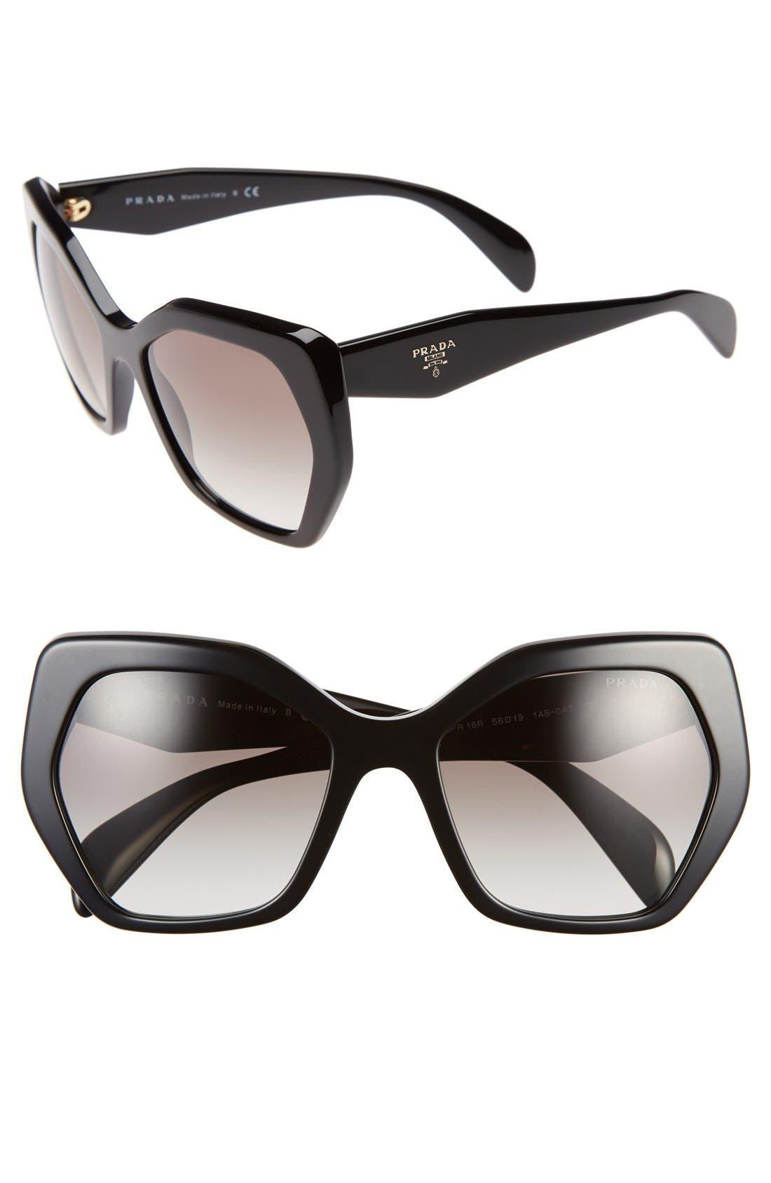 Alternate Image 1 Selected - Prada Heritage 56mm Sunglasses
