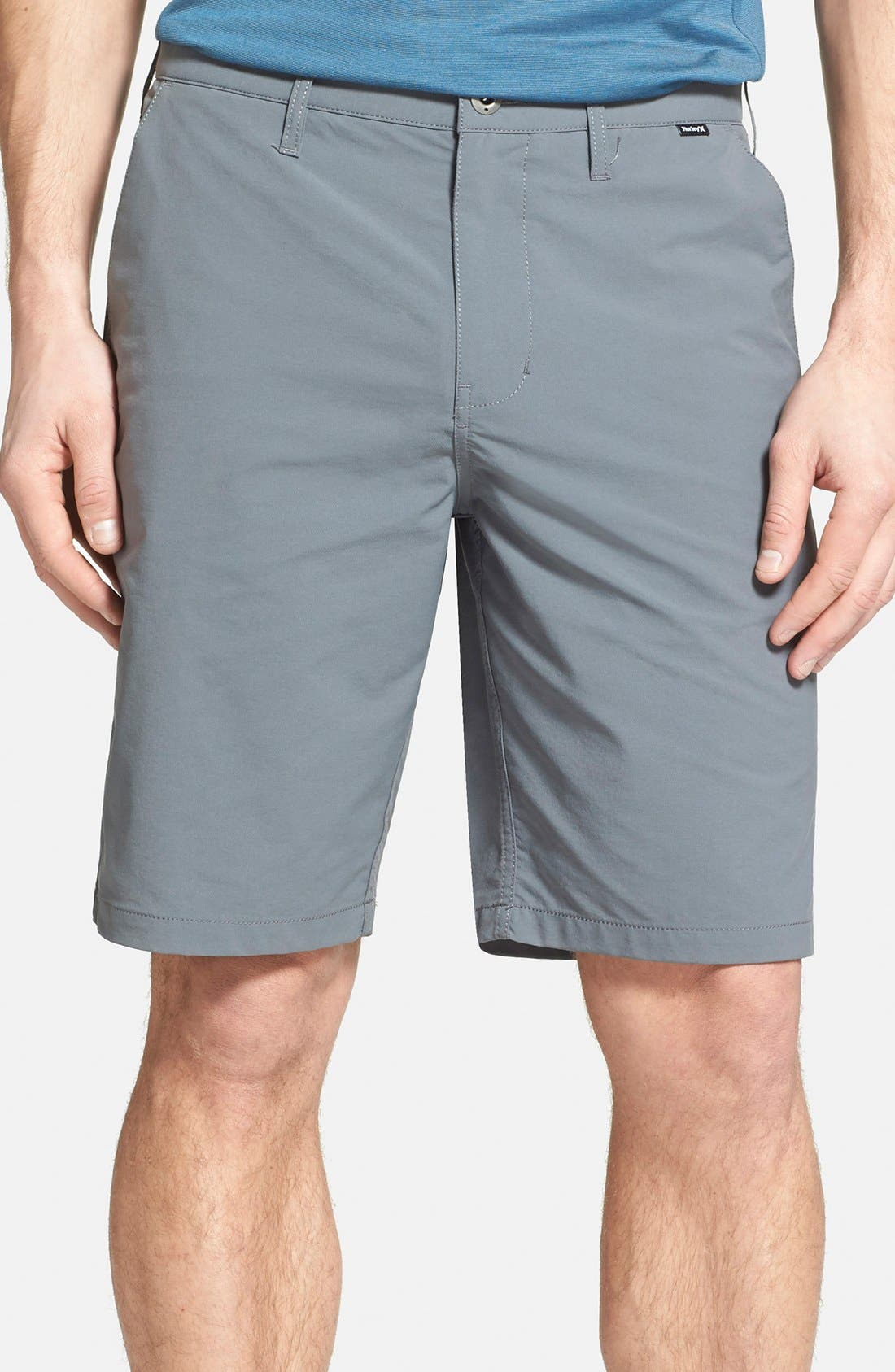 'Dry Out' Dri-FIT<sup>™</sup> Chino Shorts,                         Main,                         color, Cool Grey