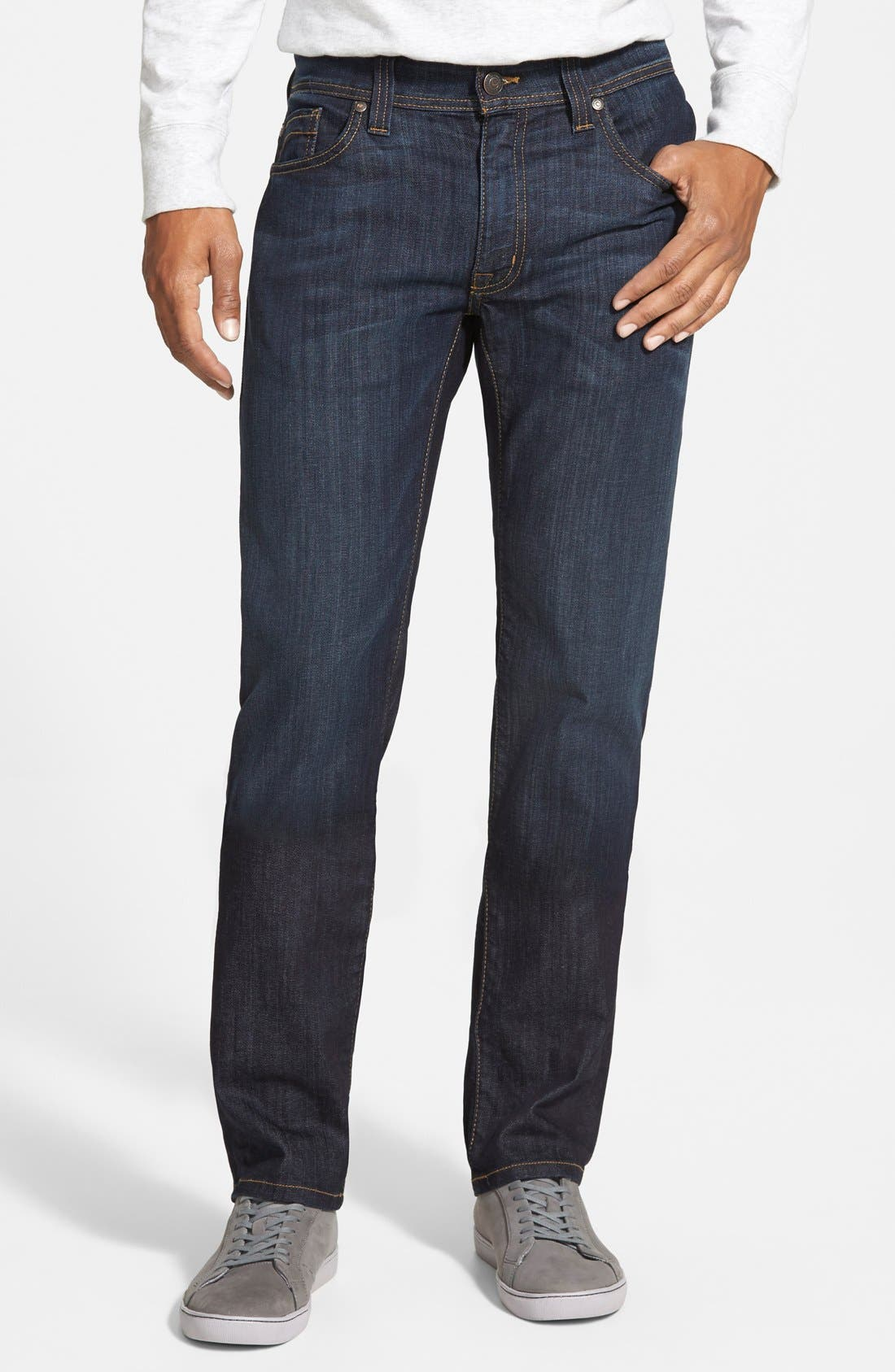 Fidelity Denim Jimmy Slim Straight Leg Jeans (Clampdown Dark)