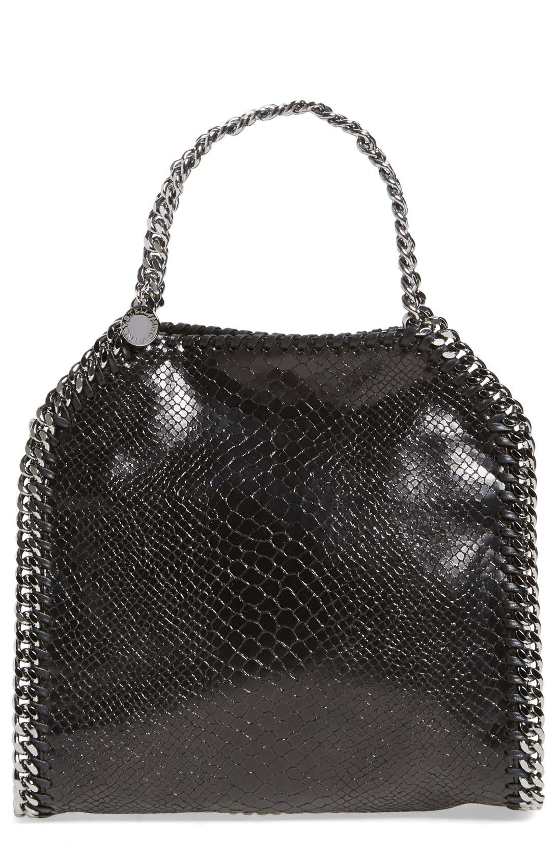 Alternate Image 1 Selected - Stella McCartney 'Mini Falabella' Snake Embossed Faux Leather Tote