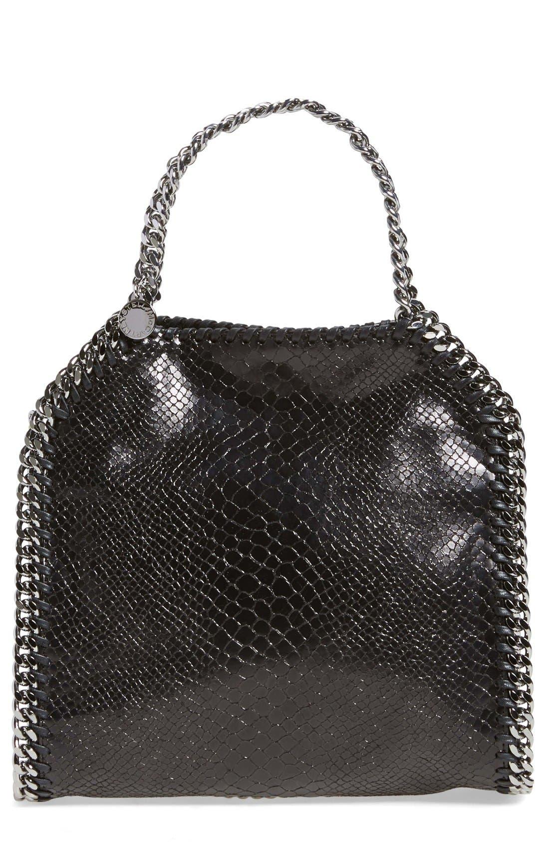 Main Image - Stella McCartney 'Mini Falabella' Snake Embossed Faux Leather Tote