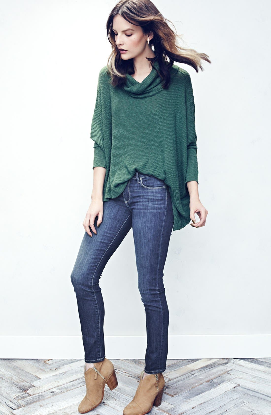 Alternate Image 6  - Free People 'World Traveler' Cowl Neck Pullover