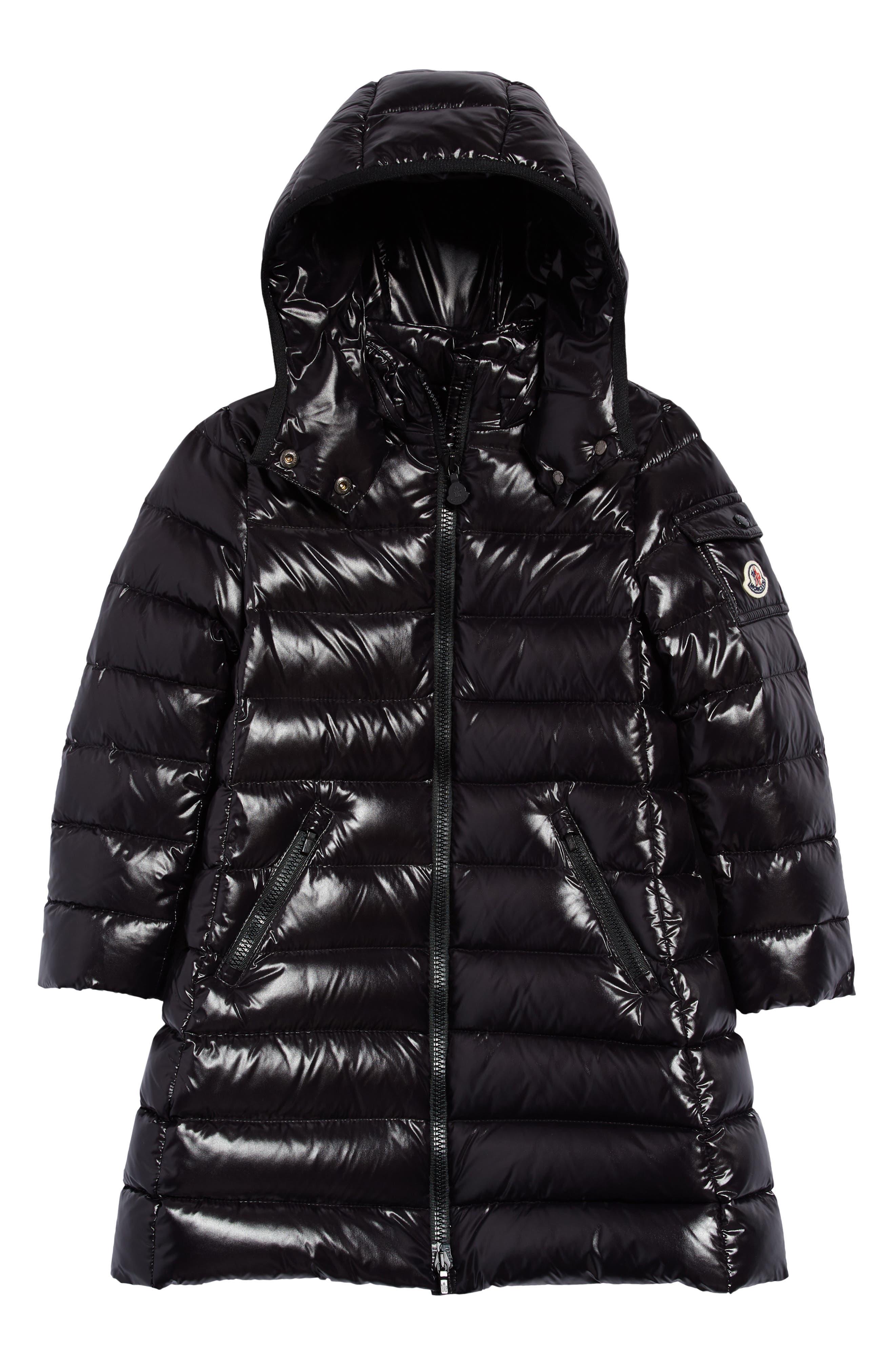 Phorecys Girls Boys Fashion Waterproof Glossy Down Parkas Jackets Long Style Hooded Puffer Coats