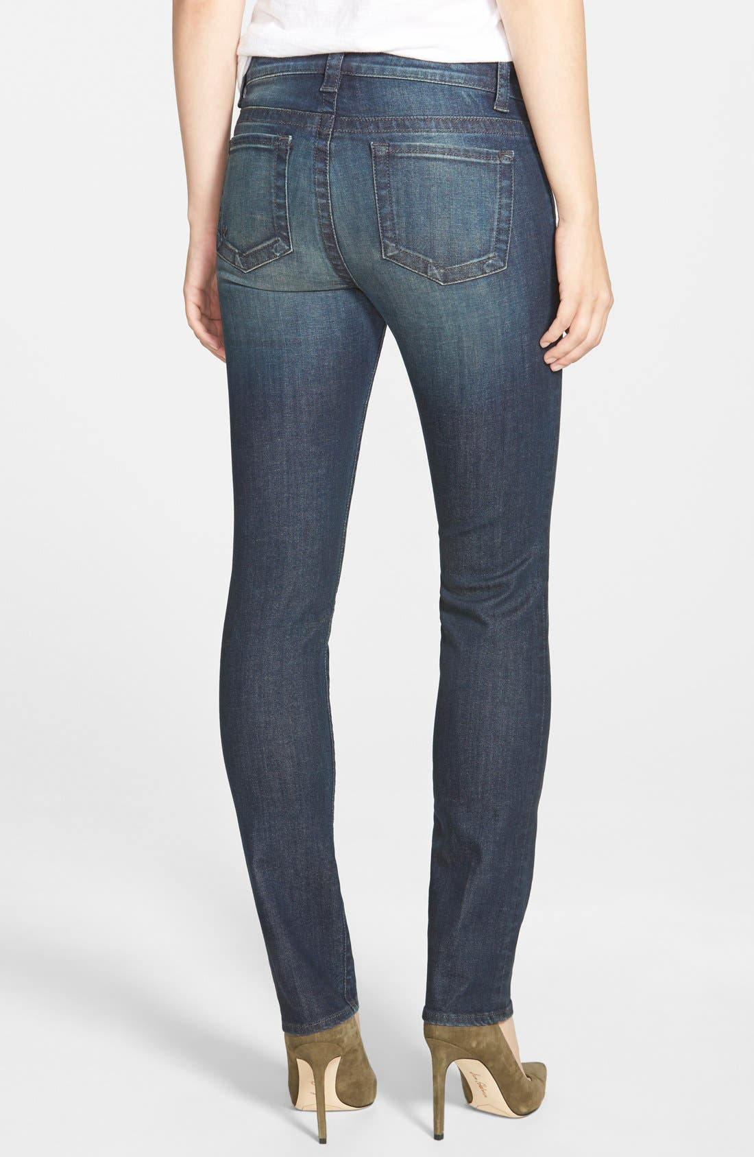 'Stevie' Stretch Straight Leg Jeans,                             Alternate thumbnail 2, color,                             Benevolent