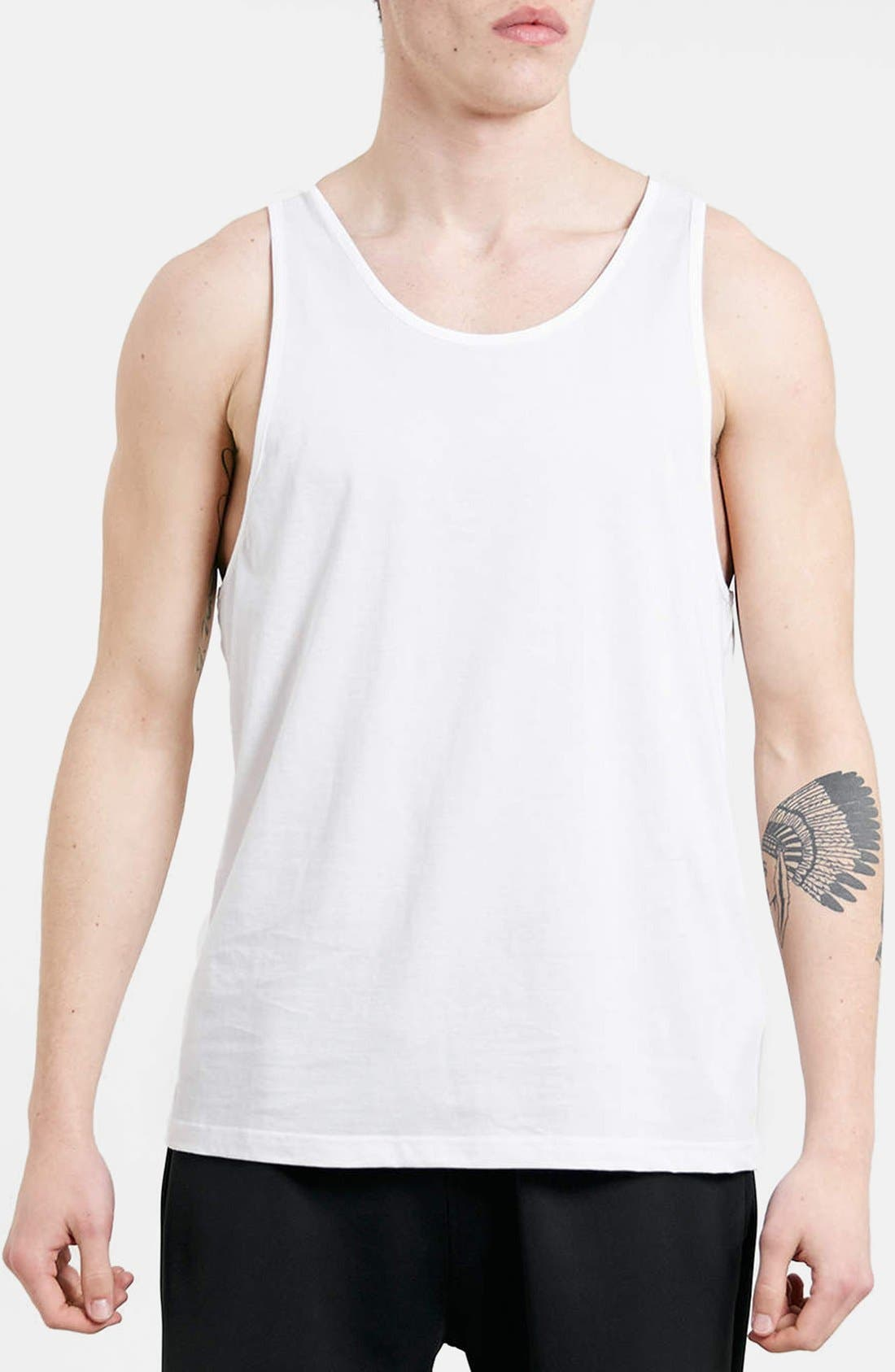 Classic Fit Tank Top,                         Main,                         color, White
