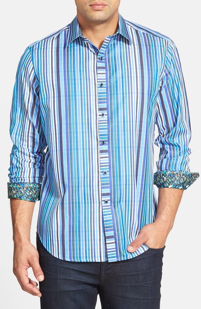 Robert graham 39 exmoor 39 classic fit stripe sport shirt for Robert graham sport shirt