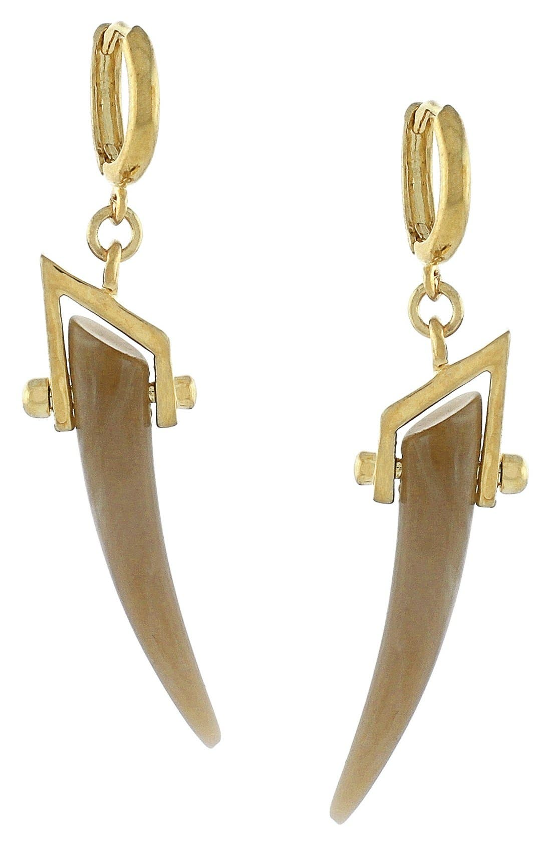 Alternate Image 1 Selected - Vince Camuto 'Serengeti Breeze' Faux Horn Drop Earrings