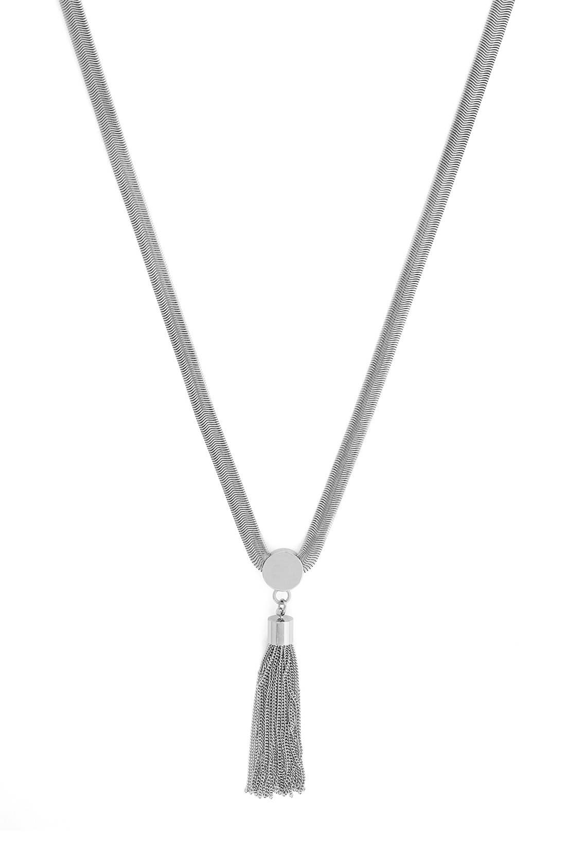 Alternate Image 1 Selected - Vince Camuto 'Tribal Core' Tassel Pendant Necklace