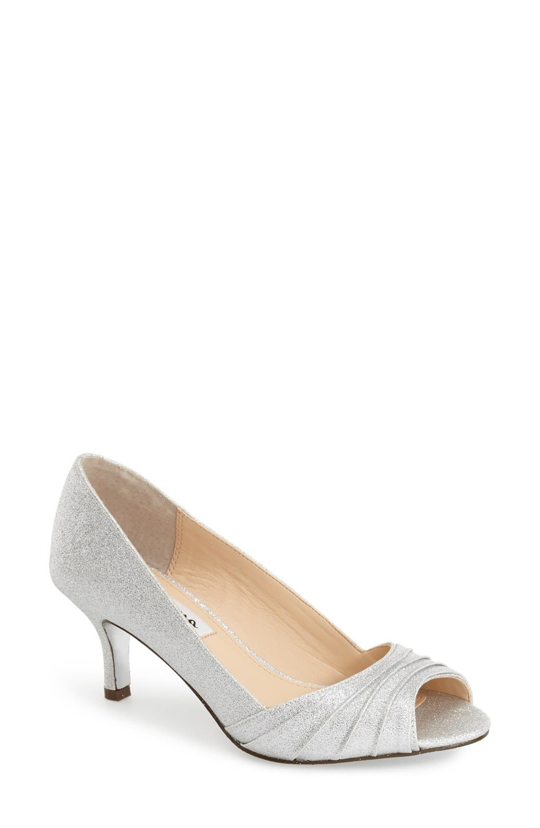 Nina 'Carolyn' Peep Toe Pump (Women)