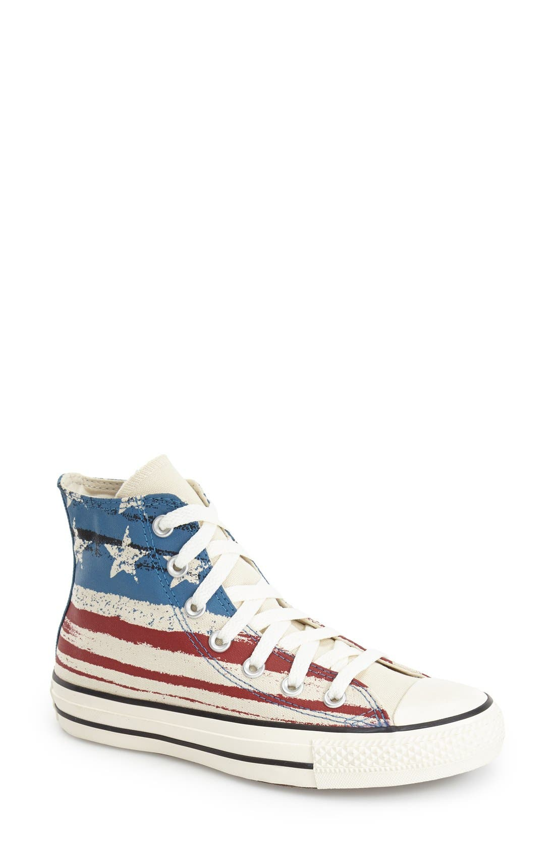 Alternate Image 1 Selected - Converse Chuck Taylor® Flag Print High Top Sneaker (Women)
