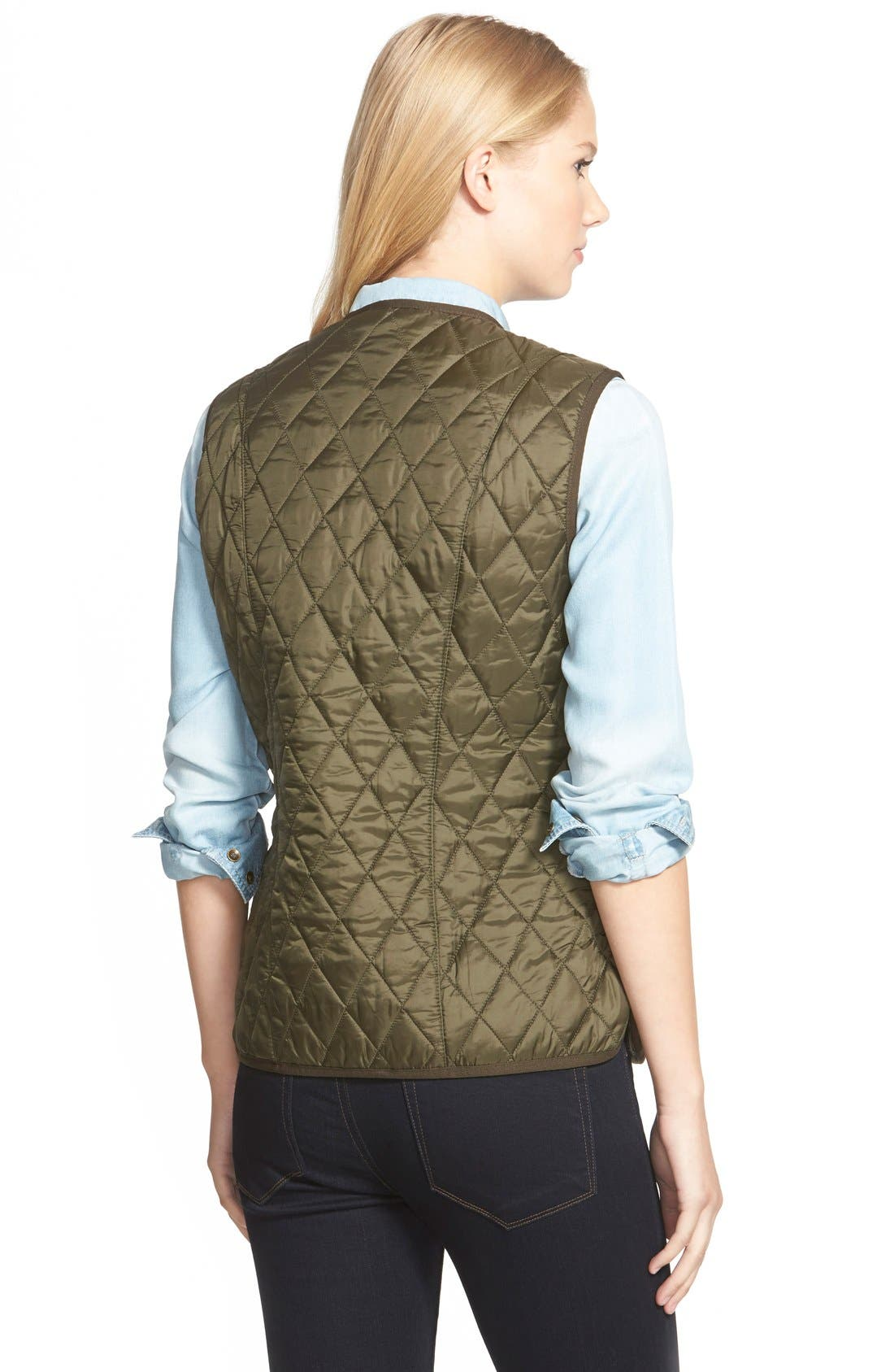'Beadnell' Quilted Liner,                             Alternate thumbnail 2, color,                             Olive