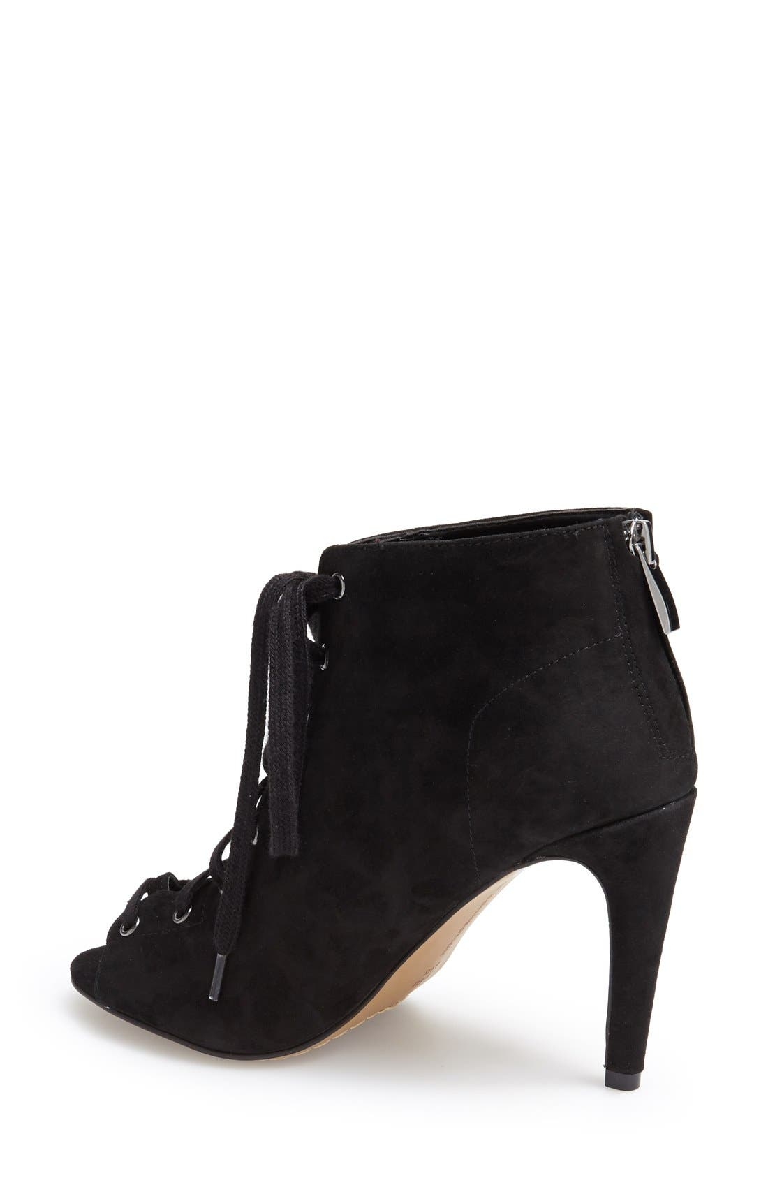 Alternate Image 2  - French Connection 'Quillan' Lace-Up Peep Toe Bootie (Women)