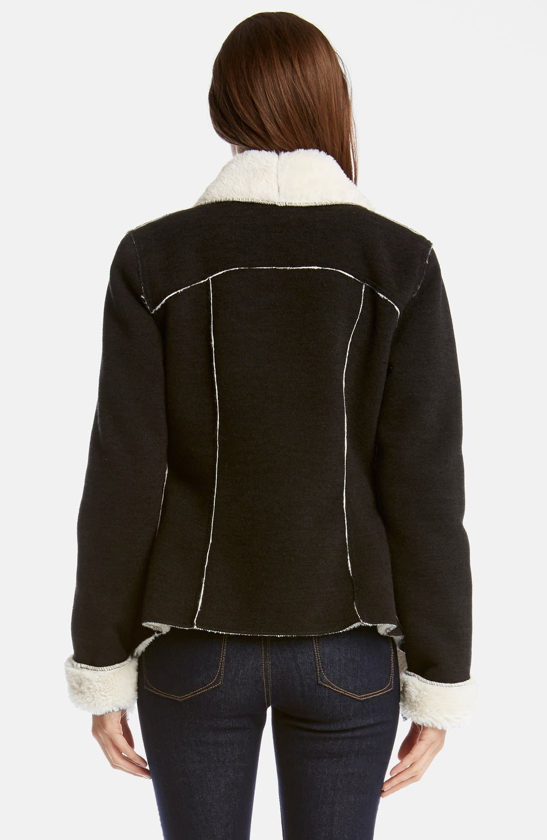 Alternate Image 2  - Karen Kane 'Moon Dance' Faux Shearling Lined Jacket