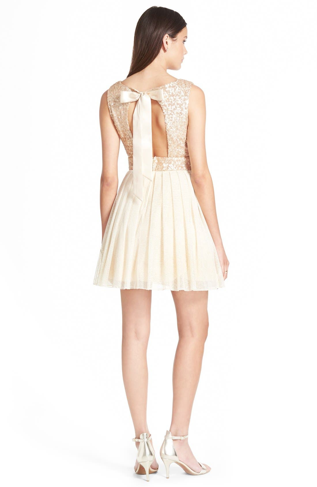 Alternate Image 2  - Speechless Sequin Bodice Skater Dress