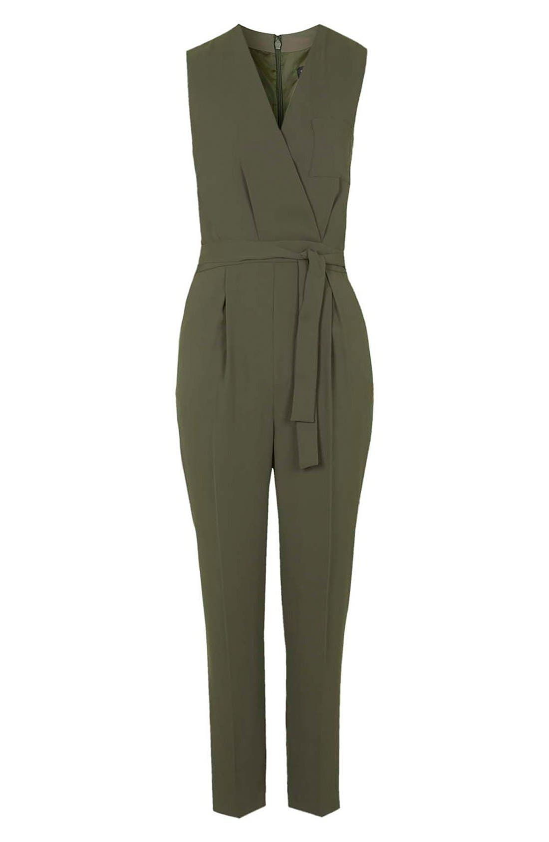 Alternate Image 3  - Topshop Drape Front Jumpsuit